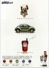 信息通讯用品0014,信息通讯用品,中国广告作品年鉴2006,波导 层次 狗 汽车 手机 专业方向