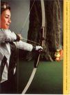信息通讯用品0033,信息通讯用品,中国广告作品年鉴2006,动物 射击 弓箭手