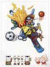 天点设计0006,天点设计,中国设计机构年鉴,薯片 诱惑 运动 麦当劳 球类 滑板 娃娃