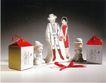 服装美容0014,服装美容,华文设计年鉴-型录卷,娃娃 礼品 盒子 双份儿 男人 淑女 蝴蝶结 靠近