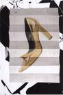 360度作品0012,360度作品,国际招贴画设计,高跟鞋 样本 素描 纸上 背景