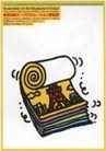 国际视觉设计招贴设计0161,国际视觉设计招贴设计,国际招贴画设计,卷标纸 艾菲尔铁塔 彩色卷纸