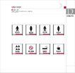 环境识别-设施标识牌,奇瑞汽车VI,整套VI矢量素材,洗手间 吸烟区 更衣室