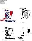 肯德基0001,肯德基,整套VI矢量素材,KFC Delivery 肯德基