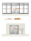 韩国现代电子0036,韩国现代电子,整套VI矢量素材,大门 入口 玻璃门