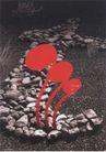 日本海报设计0027,日本海报设计,日本广告专集,石子 路 野草