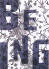日本海报设计0044,日本海报设计,日本广告专集,字母  花草 植物