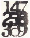 日本海报设计0062,日本海报设计,日本广告专集,黑色数字