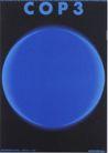 日本海报设计0083,日本海报设计,日本广告专集,蓝色 圆形 英文
