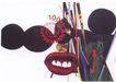 日本海报设计0096,日本海报设计,日本广告专集,红唇
