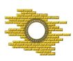 边框悍将0085,边框悍将,设计组件素材,圆形 砖块 墙壁