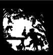人物影子0071,人物影子,人物,黑白剪影