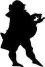 人物影子0074,人物影子,人物,胖胖身躯