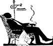 人物影子0079,人物影子,人物,抽烟的人