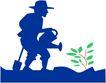 农业机械与庄稼0461,农业机械与庄稼,植物,