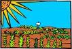 农业机械与庄稼0498,农业机械与庄稼,植物,