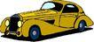 轿车0041,轿车,交通运输,黄色车子