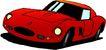 轿车0057,轿车,交通运输,红色汽车