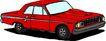 轿车0074,轿车,交通运输,一辆红轿车