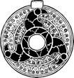 圆形形图案0124,圆形形图案,微章图案,