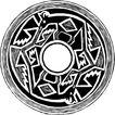 圆形形图案0132,圆形形图案,微章图案,