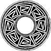 圆形形图案0133,圆形形图案,微章图案,