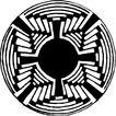 圆形形图案0135,圆形形图案,微章图案,