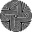圆形形图案0137,圆形形图案,微章图案,
