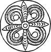 圆形形图案0140,圆形形图案,微章图案,