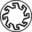 圆形形图案0153,圆形形图案,微章图案,