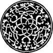 圆形形图案0170,圆形形图案,微章图案,