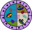 圆形形图案0320,圆形形图案,微章图案,