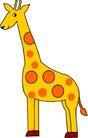 动物拟人化卡通0007,动物拟人化卡通,拟人卡通,长颈鹿