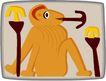 动物拟人化卡通0011,动物拟人化卡通,拟人卡通,猴子