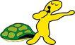动物拟人化卡通0014,动物拟人化卡通,拟人卡通,龟甲 伸懒腰