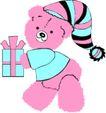 动物拟人化卡通0027,动物拟人化卡通,拟人卡通,戴着帽子 礼物