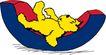 动物拟人化卡通0035,动物拟人化卡通,拟人卡通,躺着的小熊