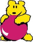 动物拟人化卡通0036,动物拟人化卡通,拟人卡通,可爱小熊