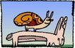 动物拟人化卡通0041,动物拟人化卡通,拟人卡通,蜗牛 兔子
