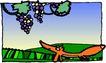 动物拟人化卡通0042,动物拟人化卡通,拟人卡通,葡萄 狐狸