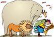 动物拟人化卡通0043,动物拟人化卡通,拟人卡通,大象 狮子 旅游者