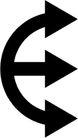 其它箭头0026,其它箭头,标识符号,