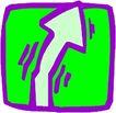 转弯箭头0107,转弯箭头,标识符号,