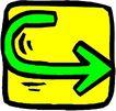 转弯箭头0111,转弯箭头,标识符号,