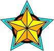 星状0551,星状,边框背景,