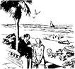 旅游休闲0021,旅游休闲,运动休闲,海景 游客 海欧