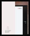 建筑装饰0021,建筑装饰,行业PSD平面模板,木质门 把手 平面模板