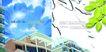 房地产0057,房地产,行业PSD平面模板,绿叶 点缀 屋子