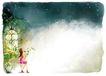 修饰背景0009,修饰背景,彩绘人物情景模板,魔幻 女孩 期待 夜空 城堡