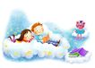 儿童成长0031,儿童成长,彩绘人物情景模板,儿童 乐园 看书